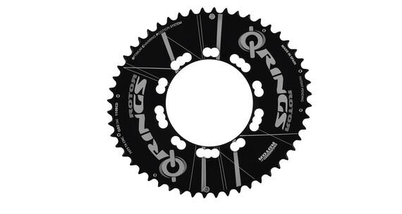 Rotor Q-Ring Aero Kettenblatt außen 135 mm 53 Zähne Campagnolo 5-Arm schwarz